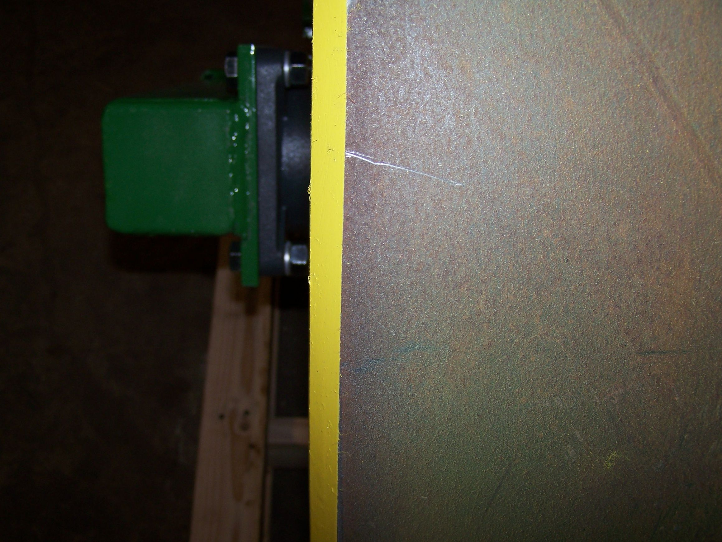 Beveled edge on drum option