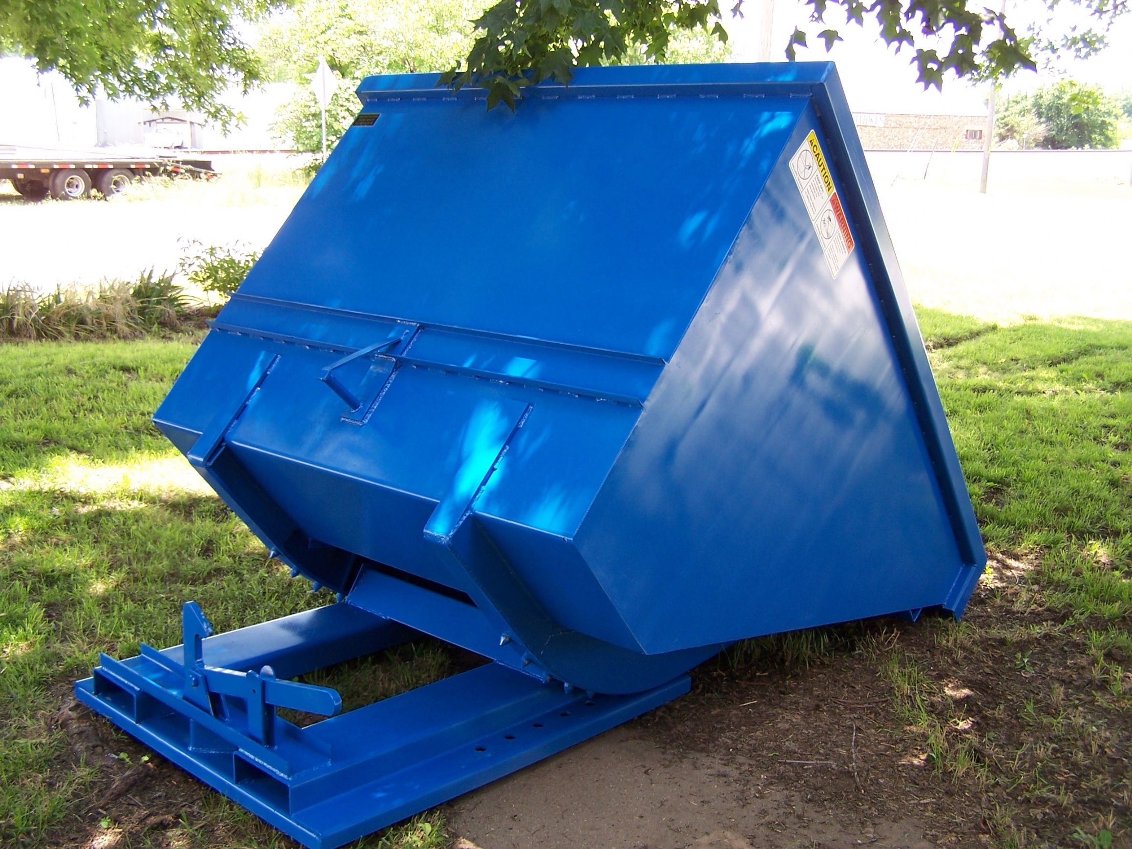 front tilt dumpster features